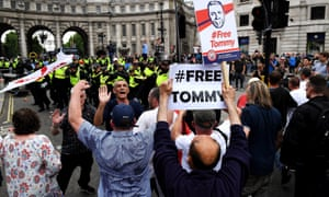 'Free Tommy Robinson' protest in London