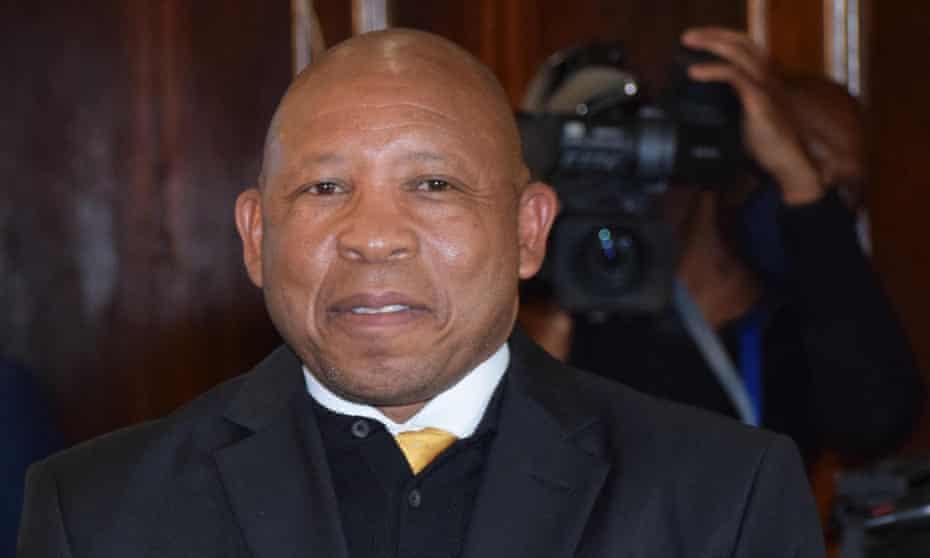 Lesotho's prime minister, Moeketsi Majoro, who tweeted that he has tested positive for coronavirus.