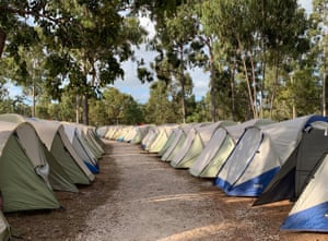 More than 2,600 tents are pre-erected for the Garma attendees - the vast majority of whom sleep onsite.
