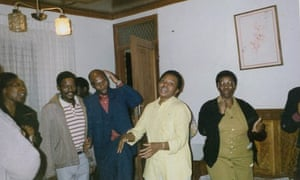 Phumla Williams, centre, after her release from prison for being a member of the African National Congress.