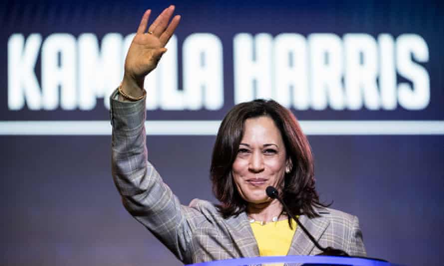 Kamala Harris addresses the crowd at the 2019 South Carolina Democratic Party State Convention on June 22 in South Carolina
