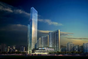 Eton Place Dalian Tower 1, which is four years overdue, in Dalian, China