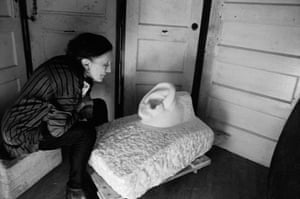 Louise Bourgeois in her studio, New York, 1991