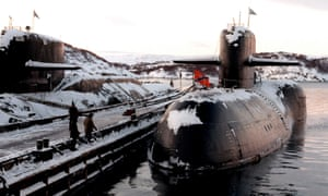 A decommissioned Russian nuclear submarine at the Arctic base of Severomorsk.