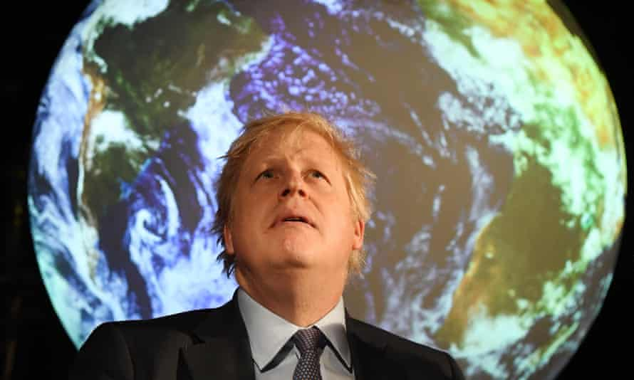 Boris Johnson at the launch of the COP26 UN Climate Summit