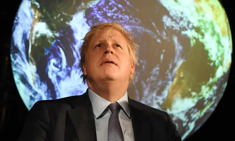 Boris Johnson at the launch of Cop26 in 2020.