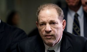 Film producer Harvey Weinstein departs Criminal Court in New York, January 6, 2020.