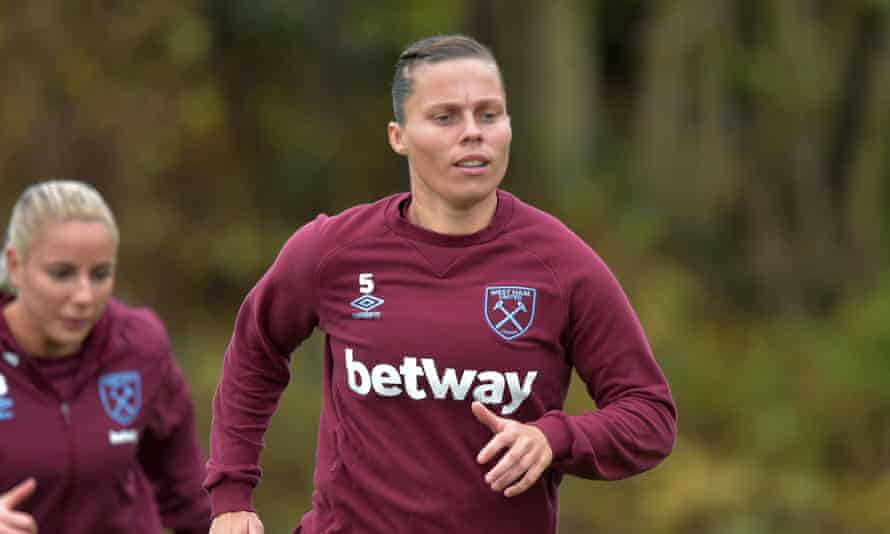 Gilly Flaherty of West Ham – their WSL game against Manchester City this weekend has been postponed.