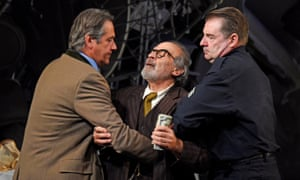 Adrian Lukis as Walter, David Suchet as Gregory Solomon and Brendan Coyle as Victor in The Price, atTheatre Royal Bath, Aug 2018.