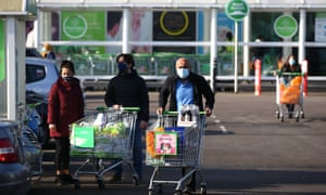 An ASDA in Wembley during last month's lockdown