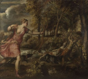 The Death of Actaeon, c.1559-75, Oil on Canvas, Titian.
