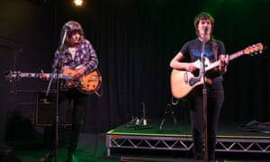 Courtney Barnett and Jen Cloher perform at the Northcote Social Club