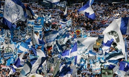 Still raucous … Schalke fans in Gelsenkirchen, Germany.