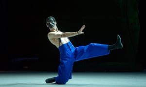 Anton Savichev as the Moor in Edward Clug's production of Petrushka for the Bolshoi.