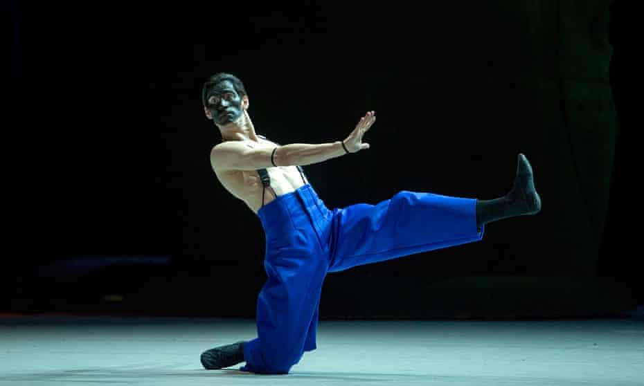 Anton Savichev as the Moor in Edward Clug's production of Petrushka for the Bolshoi.