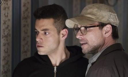 Rami Malek and Christian Slater in Mr Robot
