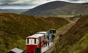 Emma Connolly takes her children to playgroup on the Leadhills and Wanlockhead Railway (L&WR).