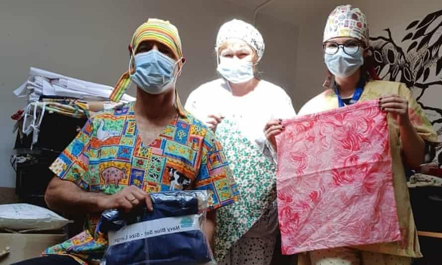 Nurses in Taunton wear scrubs made my Susan McDonnell's group.