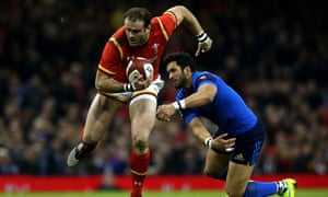 Wales centre Jamie Roberts bashes holes for himself, but also creates space for those outside him.