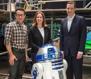 George Osborne tweeted a photo last June of him with the director JJ Abrams and Lucasfilm's president, Kathy Kennedy, on the set of Star Wars VII in Pinewood Studios.