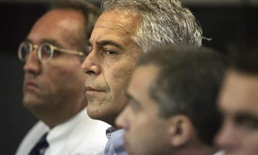 Epstein in court in 2008.