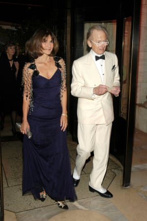 Tom Wolfe and his wife, Shelia, attend a benefit event at the New York Public Library in November 2007