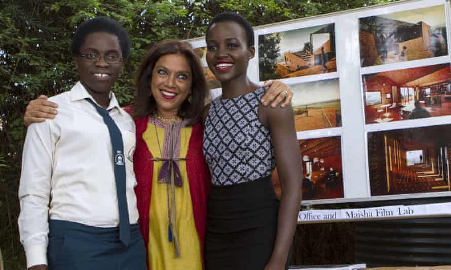Girls on film: with director Mira Nair and Lupita Nyong'o, who plays Phiona's mother in the new film.
