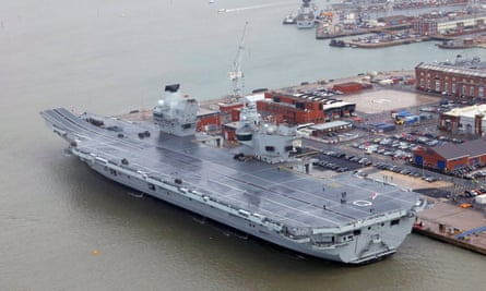 The new aircraft carrier HMS Queen Elizabeth