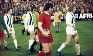 Liverpool v Borussia Mönchengladbach in the 1973 Uefa Cup final.