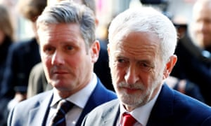 Jeremy Corbyn and Keir Starmer leave a meeting with EU chief Brexit negotiator Michel Barnier.