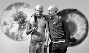 Marc Quinn with a life-sized model of Self-Conscious Gene, his new commission for the Science Museum