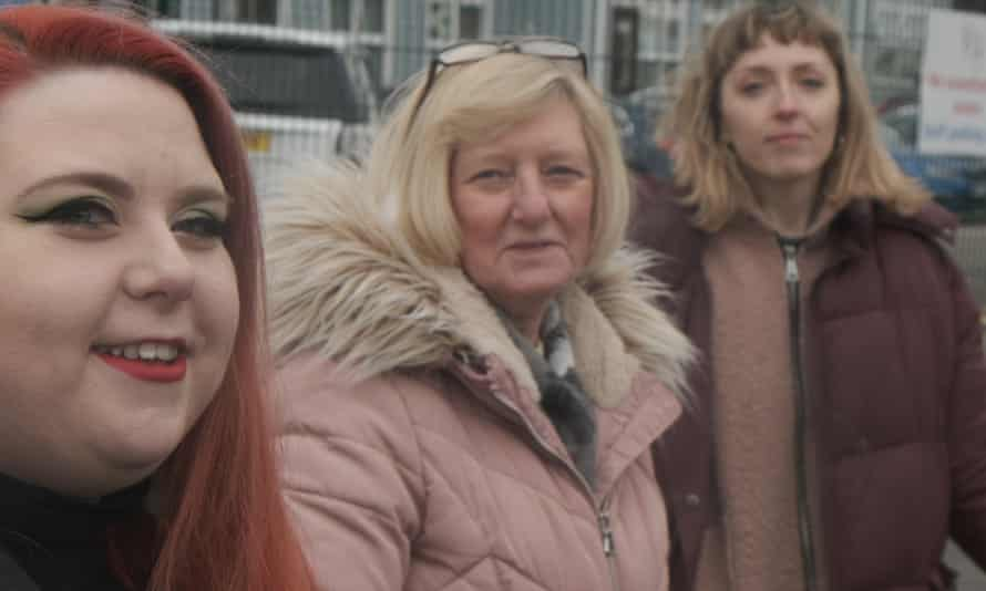 Lindsay McGlone, Pam Johnson and Rachel Horne from the Guardian film 'Made in Doncaster', part of the Made in Britain series.