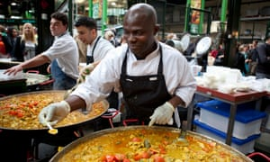 Curry on sale at Borough Market.