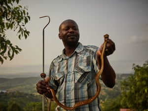 François Nsingi, a technician at the University of Kinshasa's centre for anti-venom research