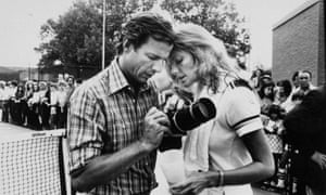 Peter Beard, with his then wife Cheryl Tiegs, in 1979.