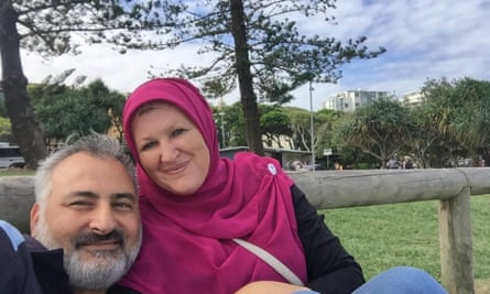 Hazem Hamouda with his wife, Evelyn. The family speculate his arrest may be linked to Facebook posts he made during the Arab Spring