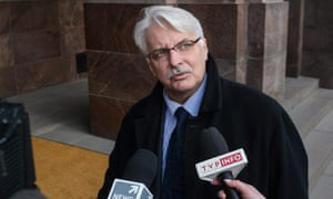 The Polish foreign minister, Witold Waszczykowski