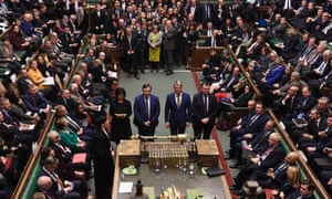 MPs vote in favour of the Creasy amendment, 29 October 2019.