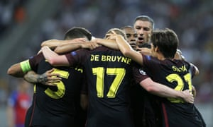 Manchester City are in total control in Bucharest.