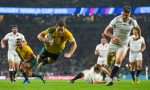 Bernard Foley produced one of the tries of the tournament with his second score against England in front of a stunned Twickenham crowd.