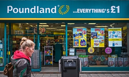 Poundland store front in Nottingham