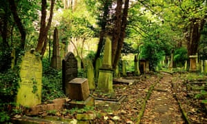 Memorials and gravestones in Abney Park cemetery, London. 'It is great to know that you are appreciated while you are still able to hear it,' writes Diana Woodward