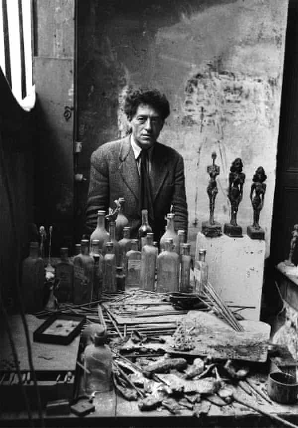 Alberto Giacometti in his studio, Paris, 1954.