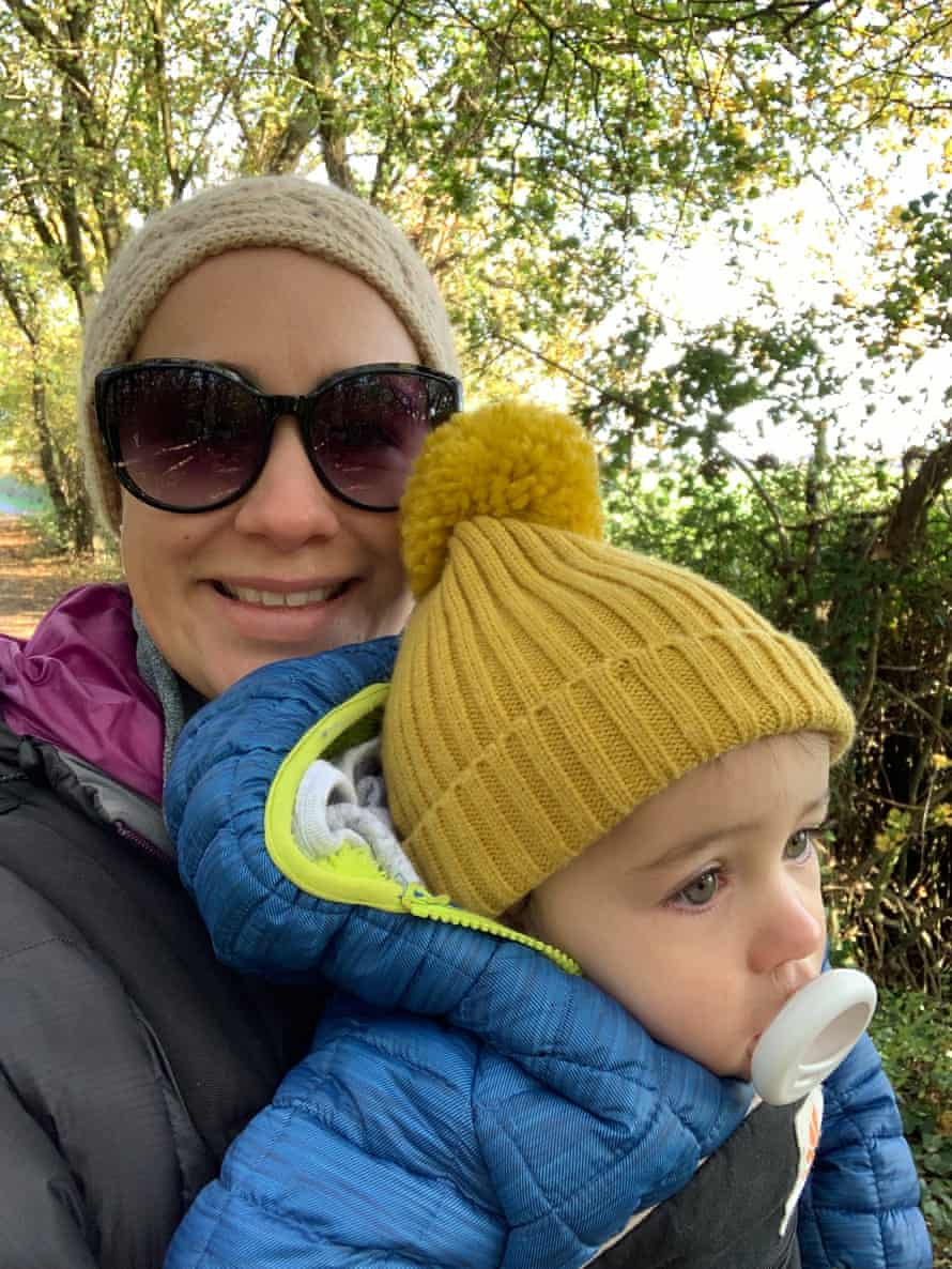Jess Youngs, 34, with one of her children.
