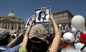 Demonstrators calling for 'justice' for Emanuela Oralndi in Rome in 2012.