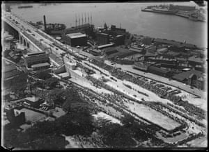 Opening of the Sydney Harbour Bridge, southern side, 1932
