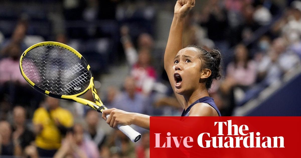 Leylah Annie Fernandez beats Aryna Sabalenka: US Open women's semi-final – as it happened