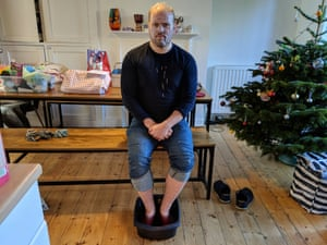 Stuart Heritage tries out vinotherapy, with a red wine footbath and a wine face mask.