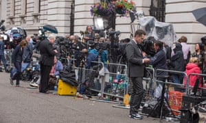The view in Downing Street.