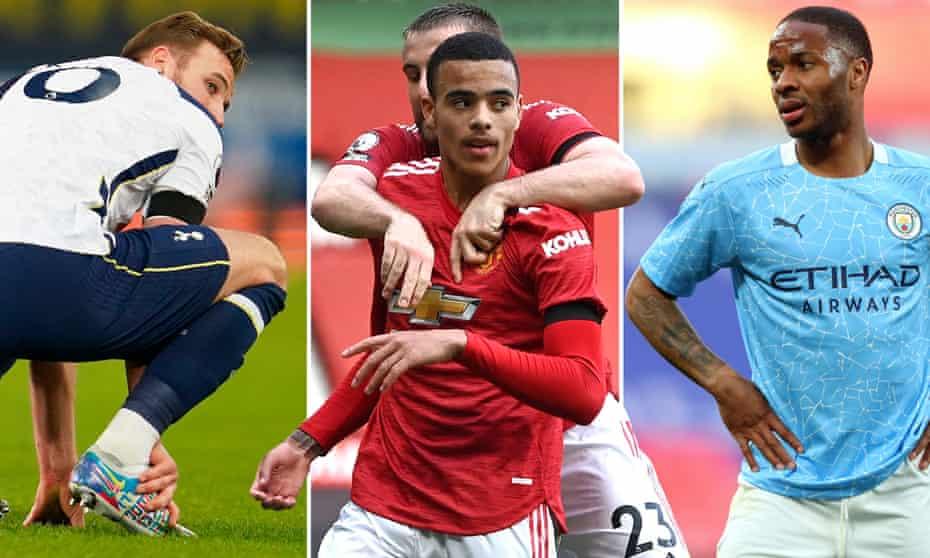 Harry Kane feels his injured ankle, Mason Greenwood celebrates at Old Trafford and Raheem Sterling struggles at Wembley.